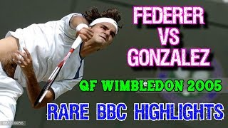 POWER TENNIS! BBC ● Federer v Gonzalez ● QF Wimbledon 2005 Highlights