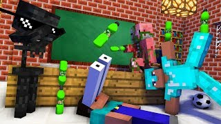 Monster School : BOTTLE FLIP CHALLENGE ALL EPISODE - Minecraft Animation