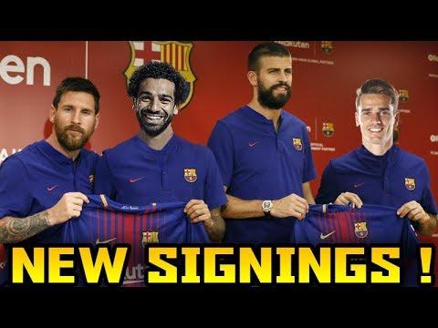 FC Barcelona TRANSFER Targets 2018 (TOP 10) Transfer News ft. Salah Martial Griezmann