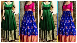 How To Convert Old Saree Into Long Gown In Tamil Free Online