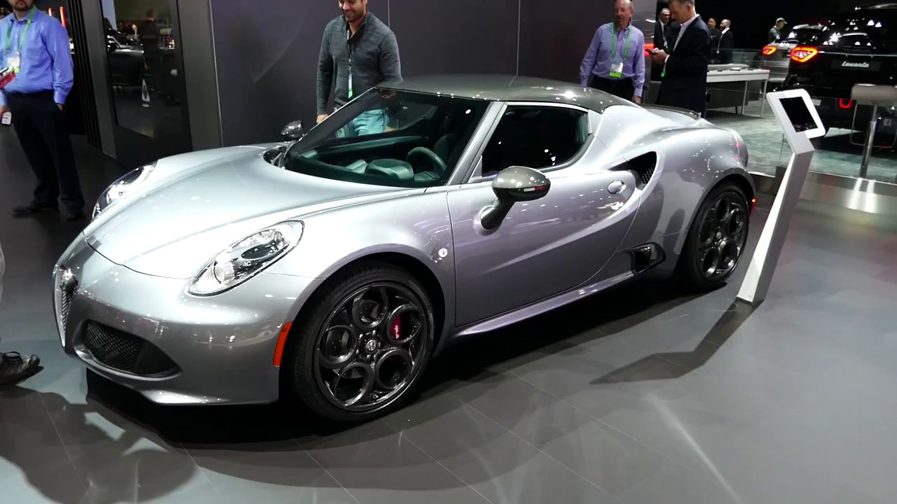 New 2018 Alfa Romeo 4c Coupe Sports Car Exterior Tour 2017 La Auto Show Los Angeles Ca