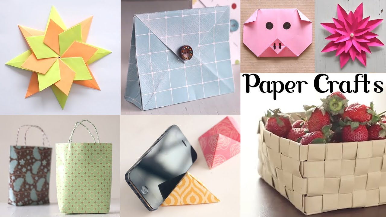 10 Amazing Paper Crafts Diy Craft Ideas Art All The Way Youtube