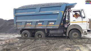 Tata 2518 tk Unloading Chips After Weight.