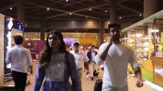 Daisy Shah  Saqib Saleem Spotted at Airport