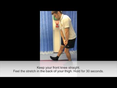 Physiotherapy: Quads and hamstring stretch