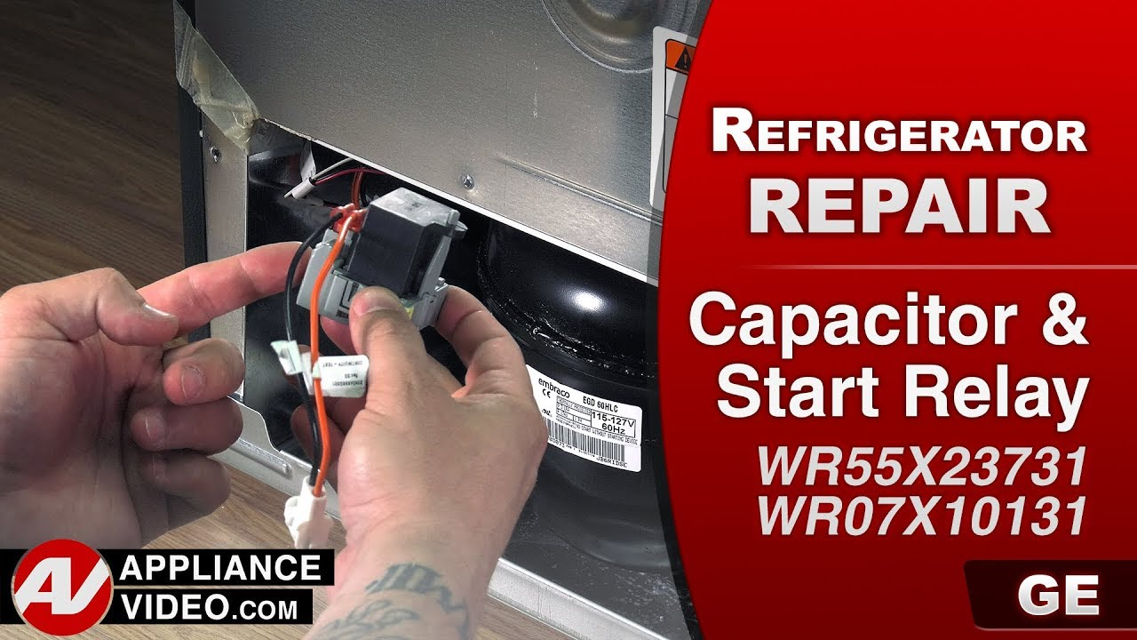 small resolution of ge general electric refrigerator making clicking noise diagnostic repair capacitor