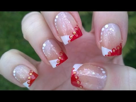 Chevron French Manicure Tutorial For Holidays