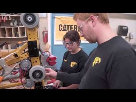Caterpillar-sponsored FIRST Robotics Teams Compete in Engineering Challenge