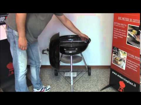 Weber Holzkohlegrill Compact Kettle ø 47 Cm : Weber compact kettle recensione barbecuemania it youtube