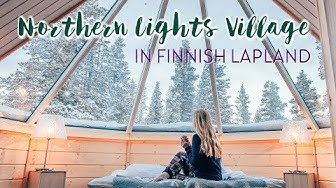 Staying in a NORTHERN LIGHTS CABIN in Finland