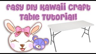 Easy Diy (do It Yourself) Kawaii Craft Table Tutorial!