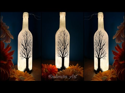 Very Easy And Attractive Home Decor Idea Diy Bottle Lamp Kashmira Art Episode 50 Youtube