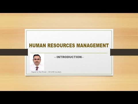 # 01- Introduction to Human Resources Management: مقدمة الى