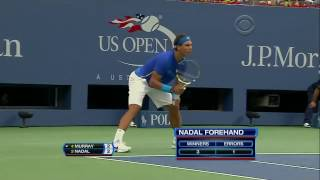 Rafael Nadal vs Andy Murray Us Open 2011 SF Highlights HD