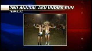 asu undie run 2009 kxly interview