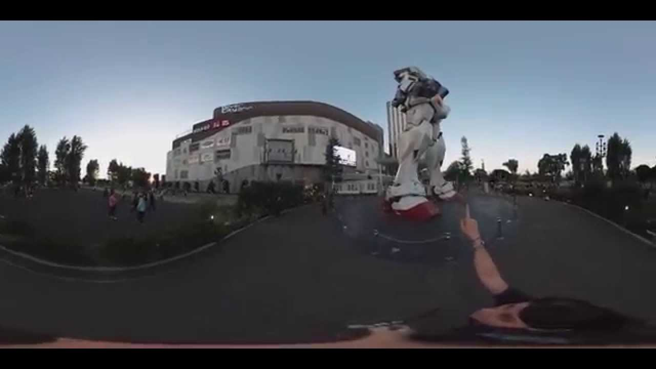 Balade VR Autour Du Gundam à Tokyo YouTube - Journey through tokyo and space in this incredible 360 video