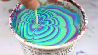watermarble - china glaze 2015- blue green and purple