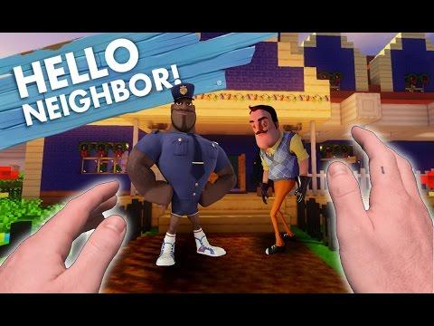 Realistic Minecraft: Hello Neighbor - CALLING THE COPS!
