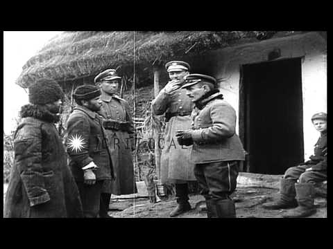 Soviet Russian  prisoners of war in the Ukraine during the Polish-Soviet war HD Stock Footage