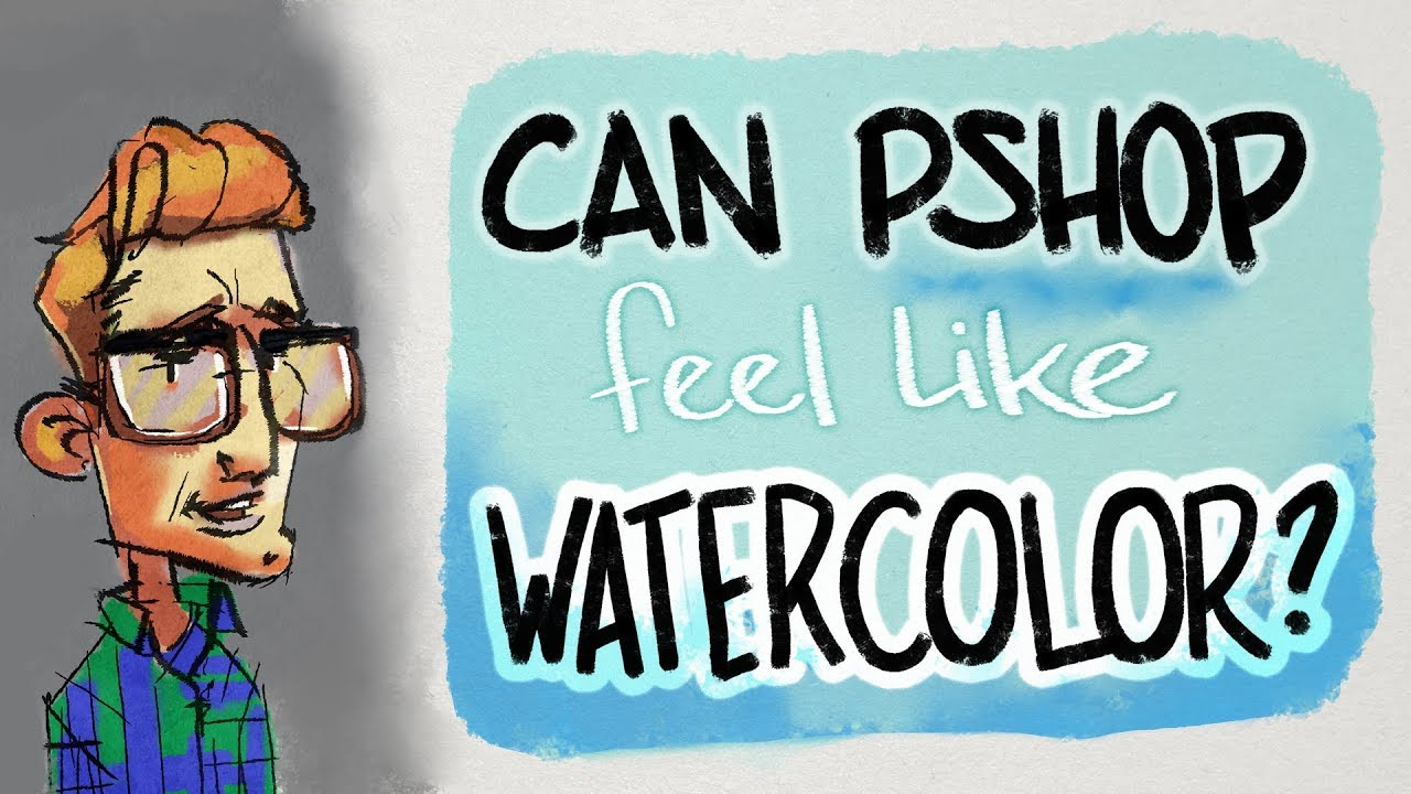 Get Watercolor & Ink Look in Photoshop with Custom Brushes & Paper Texture  - Hayao Miyazaki Style