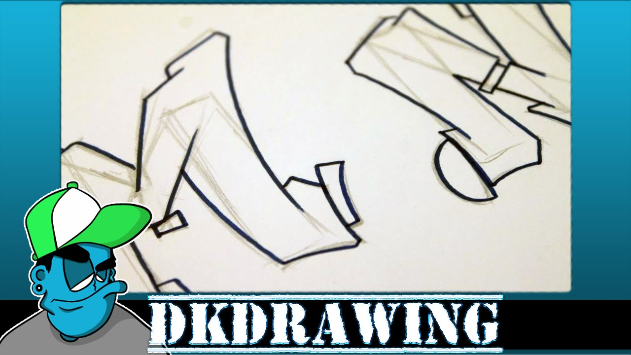 Graffiti Tutorial For Beginners How To Draw Cool Letters M N
