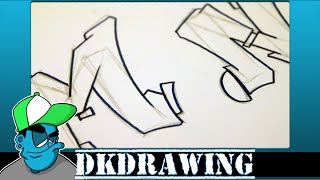 Graffiti Tutorial for beginners - How to draw cool letters M & N