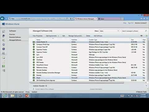 08 - Windows Intune for IT Professionals - Cloud only Software Publishing and Deployment