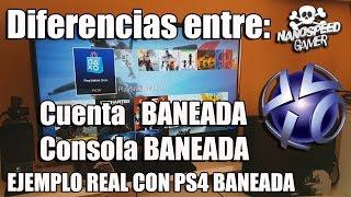 Diferencias Consola Baneada y Cuenta Baneada Playstation Network