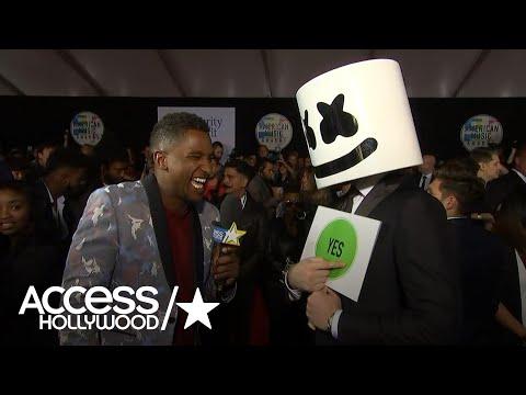 Marshmello Refuses To Talk At 2017 American Music Awards  | AMAs 2017 | Access Hollywood