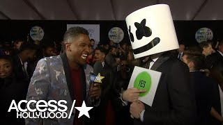Marshmello Refuses To Talk At 2017 American Music Awards  | AMAs 2017 | Access Hollywood
