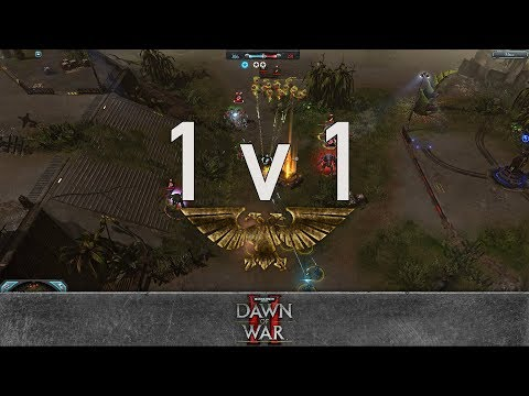 Dawn of War 2: Retribution - 1v1 | Morgan MLGman - Warlock [vs] Kickin - Hive Tyrant