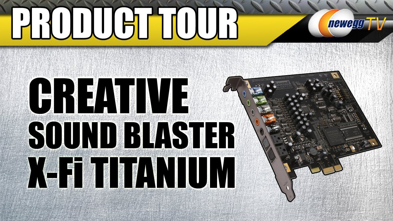 HP Creative SoundBlaster X-Fi Titanium Audio 64Bit