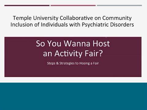 So You Wanna Host an Activity Fair? Webinar Mp3