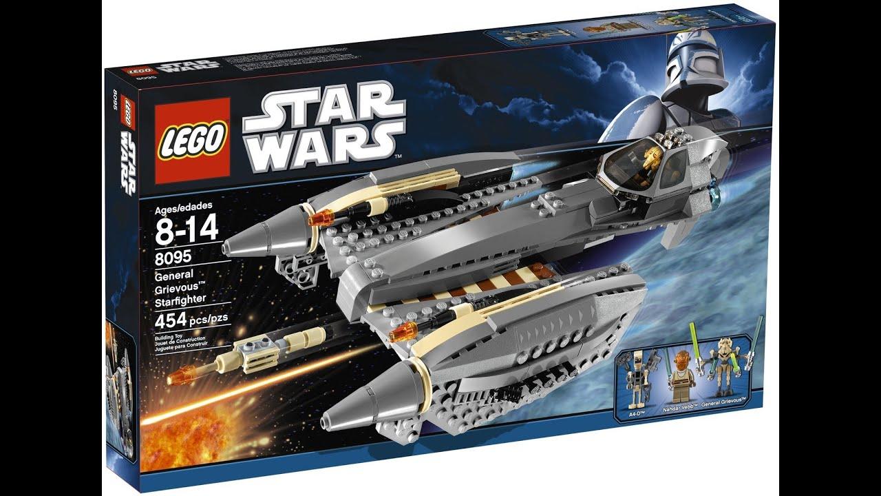 starwars clone wars lego general grievous starfighter 8095 hd review wwwflyguynet youtube - Lego Star Wars Vaisseau Clone