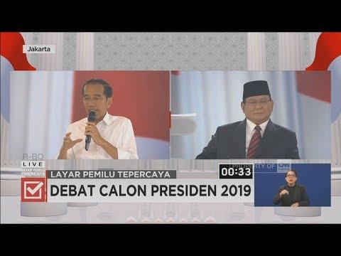 Debat Jokowi Vs Prabowo Soal Ideologi & Pemerintahan