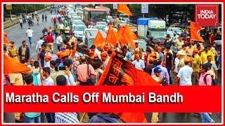 #MarathaQuotaProtest : Maratha Groups Call Off Bandh In Mumbai