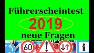 Führerscheintest neue Fragen 2019