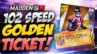 Madden 15 Ultimate Team - 102 SPEED GOLDEN TICKET VICK GOOING TALENT! MUT 15 PS4