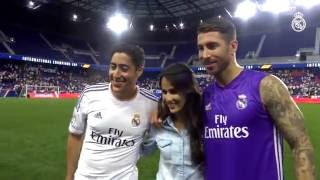 Sergio Ramos made one young fan very happy with this gift after training