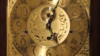 Steinway Vintage Cherry Tall Case Grandfather Clock M-C3412