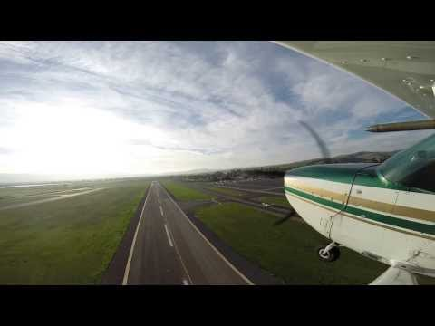 Flying from Livermore Airport (LVK) to Oakland (OAK) on a hazy afternoon...