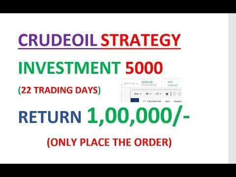 CRUDEOIL STRATEGY INVESTMENT 5000 RETURN 1LAKH IN 22 TRADING DAYS