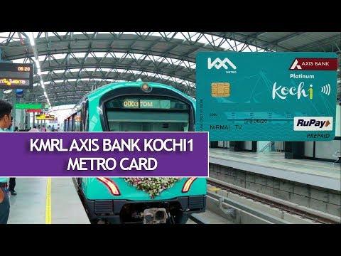 [മലയാളം] KRML Axis Bank Kochi1 Metro Card- How To Buy And Use It