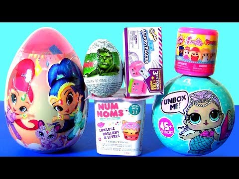 Huge Shimmer and Shine Egg Surprise LOL Dolls Shopkins Barbie Doll NUM NOMS by Funtoys