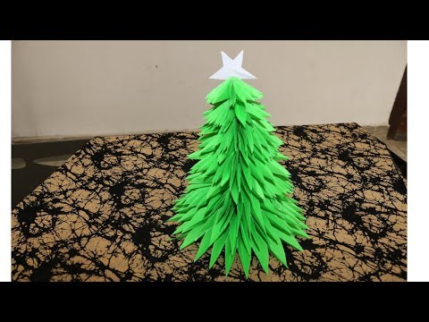 How to make a Christmas tree using Papers - DIY Xmas Tree - Handmade crafts