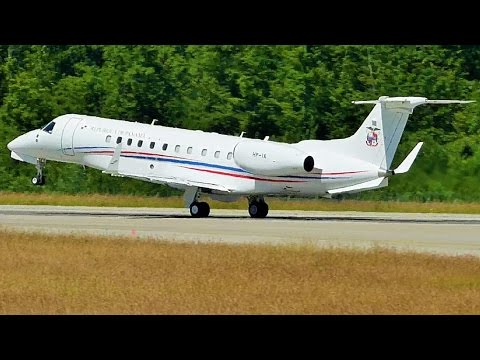 [FullHD] Panama Government Embraer Legacy 600 takeoff at Geneva/GVA/LSGG