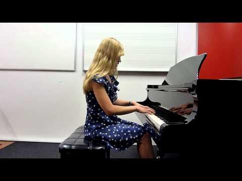 Lara plays Taylor Swift 'Love Story' piano cover