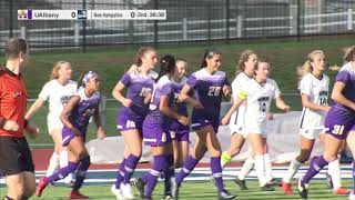 UNH Women's Soccer vs  UAlbany 10.13.19 Highlights