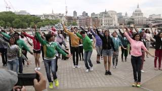 Bollywood flashmob at the iconic Southbank London