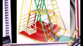 Детские спортивные комплексы, шведские стенки, турники, бассейны, батуты(Презентация продукции на сайте luxcomfort.com.ua., 2014-05-14T14:19:51.000Z)